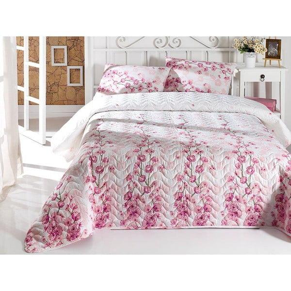 Sada prošívaného přehozu přes postel a polštáře Single 111, 160x220 cm