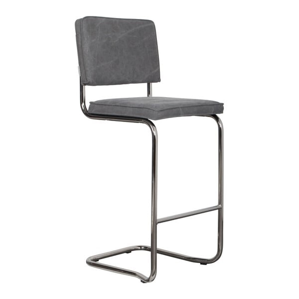 Šedá barová židle Zuiver Ridge Kink Vintage