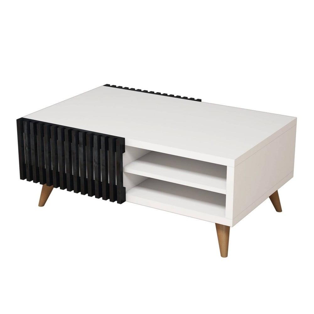 Bílý konferenční stolek Vero