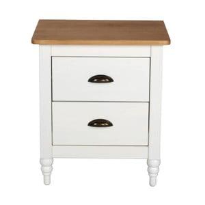 Bílý noční stolek z borovicového dřeva SOB Irelia