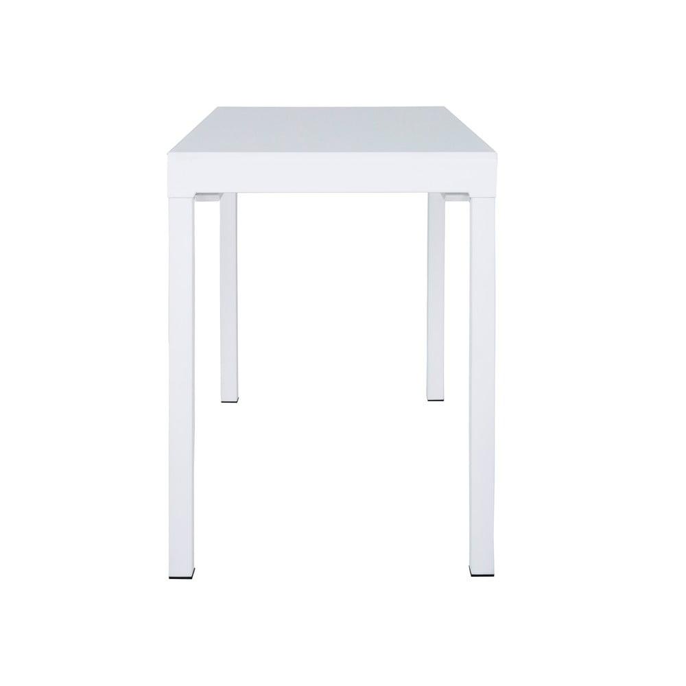 Bílý jídelní rozkládací stůl Canett Lissabon, délka 110 cm