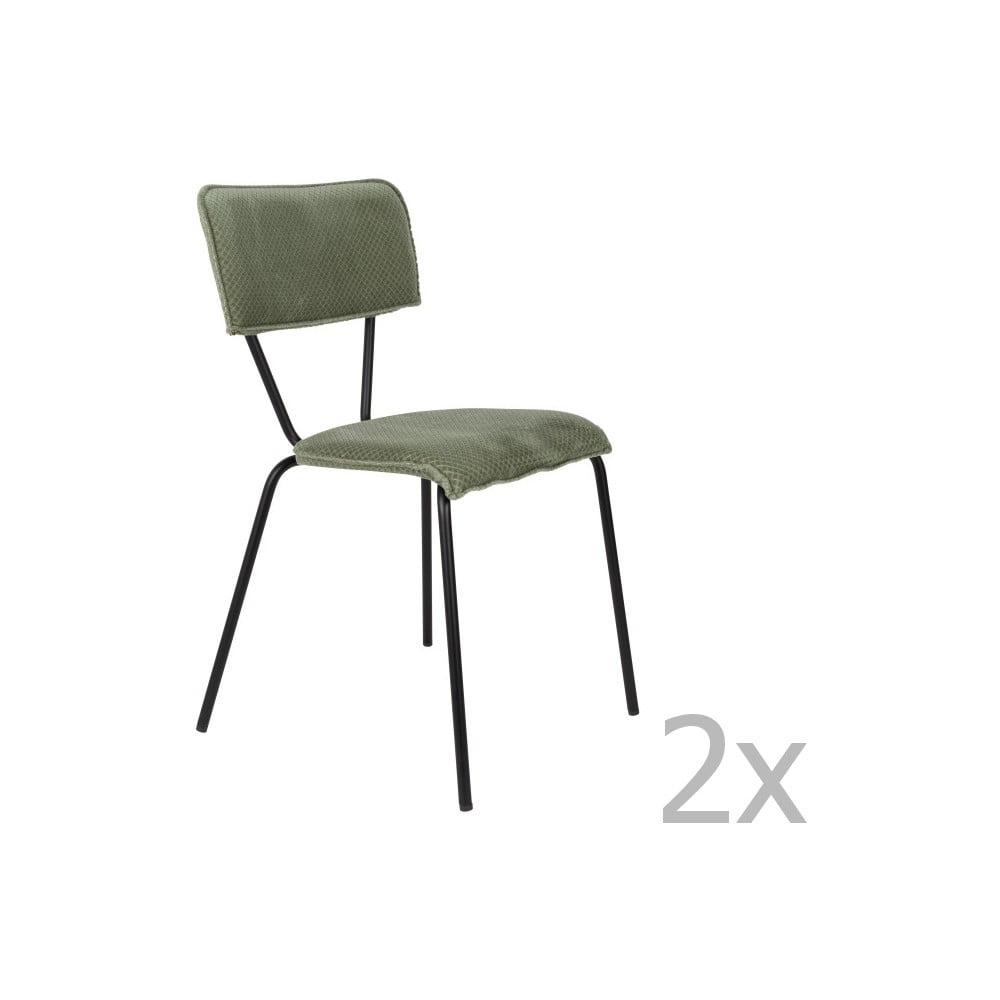 Sada 2 zelených židlí Dutchbone Melonie