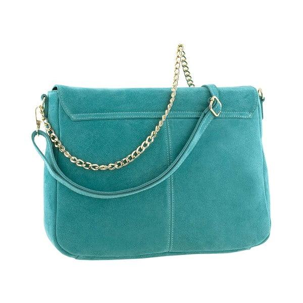 Kožená kabelka Mollie Turquoise