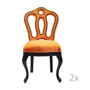 Sada 2 židlí se sametovým potahem Kare Design Royal