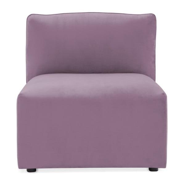 Lila fialový prostřední modul pohovky Vivonita Velvet Cube