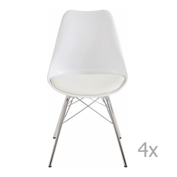 Sada 4 bílých jídelních židlí Støraa Jenny