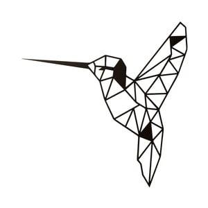 Černá nástěnná kovová dekorace Wall Decor Bird