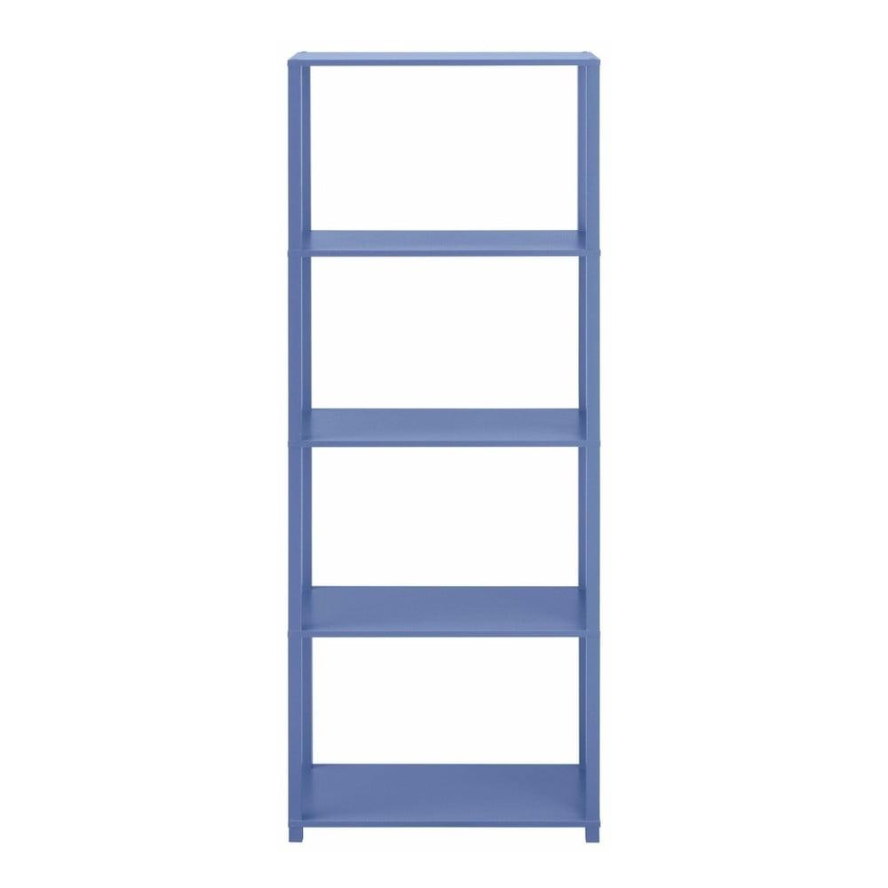 Modrá dřevěná čtyřpatrová knihovna Støraa Damien