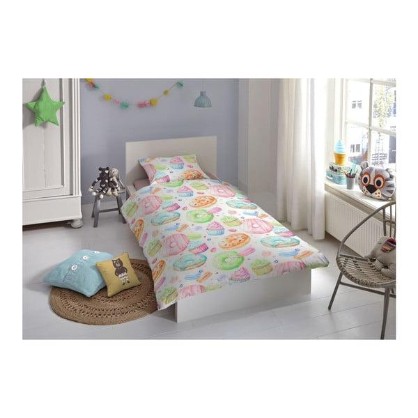 Dětské povlečení z bavlny na jednolůžko Good Morning Premento Pastry, 140 x 200 cm