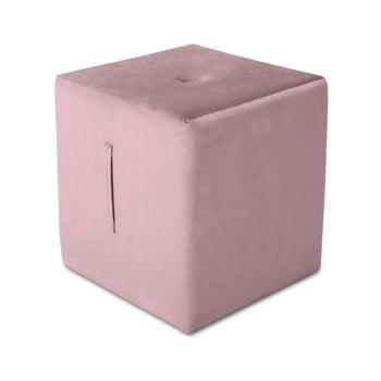 Puf Mazzini Sofas Margaret, 40 x 45 cm, roz de la Mazzini Sofas