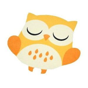 Dětský žlutý koberec Zala Living Owl, 100x100cm