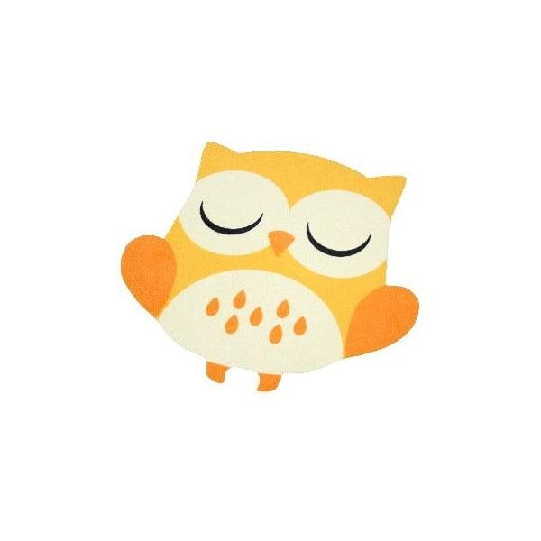 Dětský žlutý koberec Zala Living Owl, 66x66cm