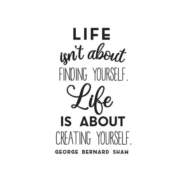 Dekorativní nástěnná samolepka Creating Yourself
