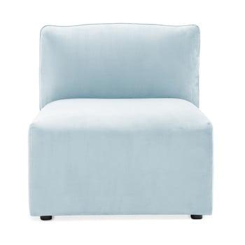 Modul de mijloc pentru canapea Vivonita Velvet Cube, albastrul cerului de la Vivonita