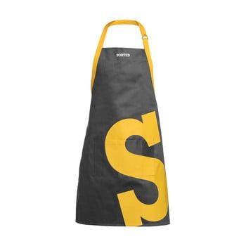 Șorț S Premier Housewares Sorted, gri-galben imagine
