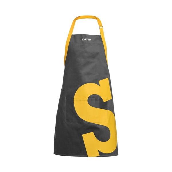 Szary fartuch kuchenny z żółtym S Premier Housewares Sorted