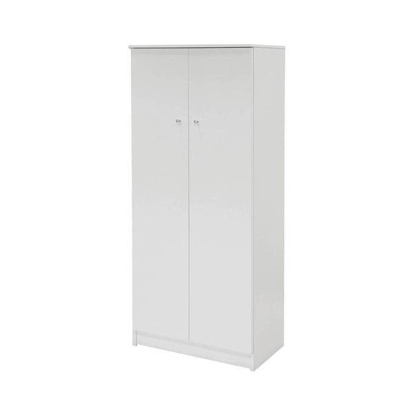 Biela dvojdverová šatníková skriňa Evegreen Houso Home, výška 147 cm