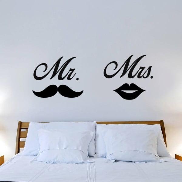 Samolepka na stěnu Mr. Mrs