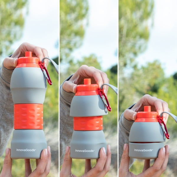 Skládací silikonová lahev InnovaGoods, 580 ml