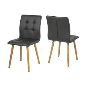 Set 2 scaune Actona Frida, negru