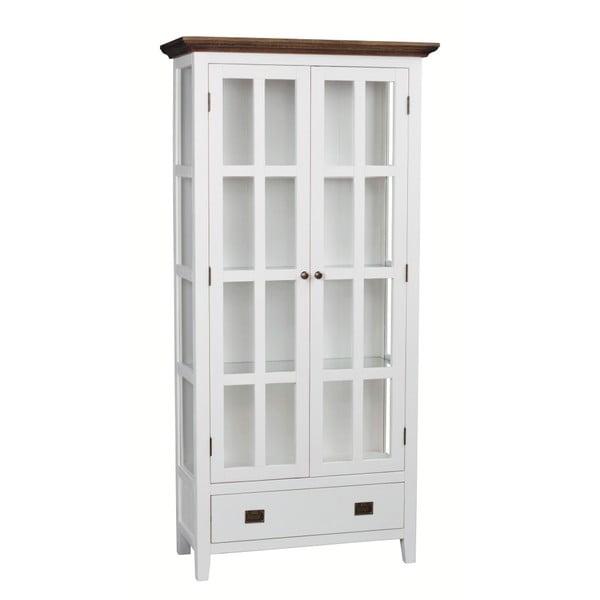 Bílá dřevěná vitrína Folke Nottingham, výška 195 cm