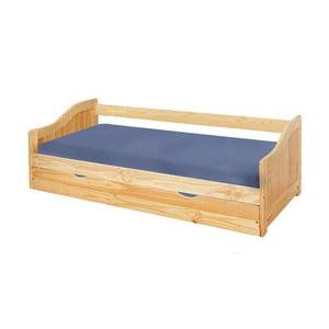 Dřevěná jednolůžková postel se zásuvkou 13Casa Leon, 90x200cm