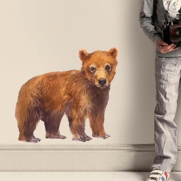 Znovu snímatelná samolepka Bear, 50x46 cm