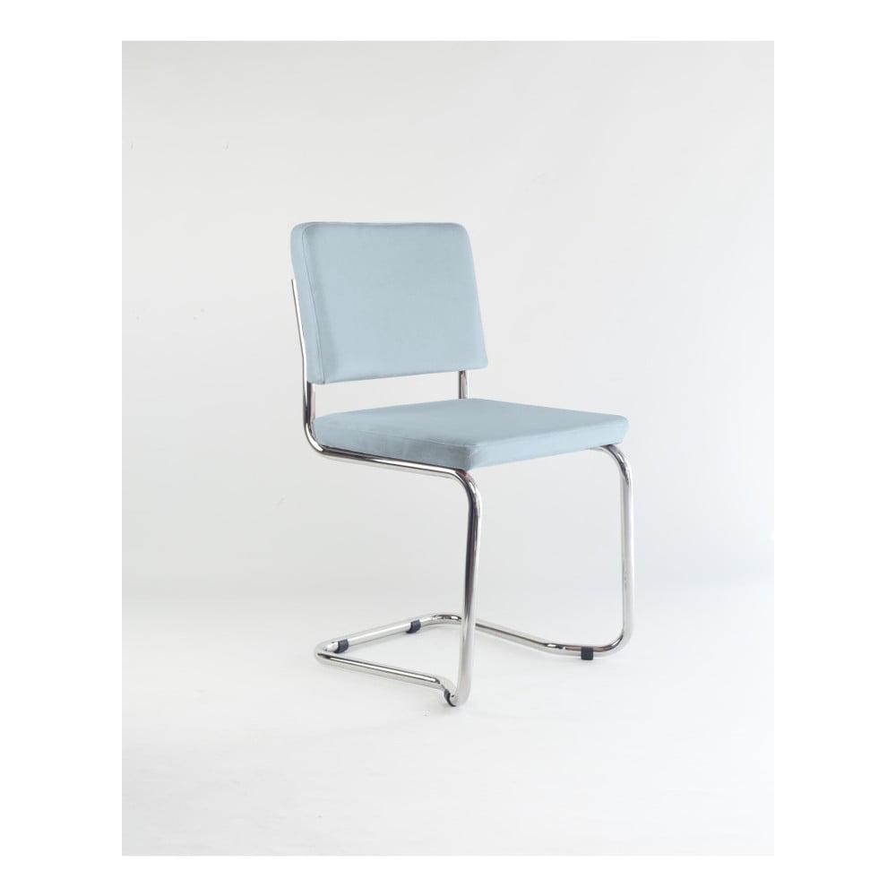 Židle s modrým sametovým potahem Velvet Atelier Bertha