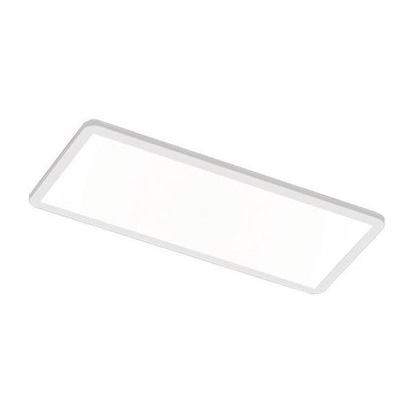 Biała prostokątna lampa sufitowa LED Trio Camillus, 80x30 cm