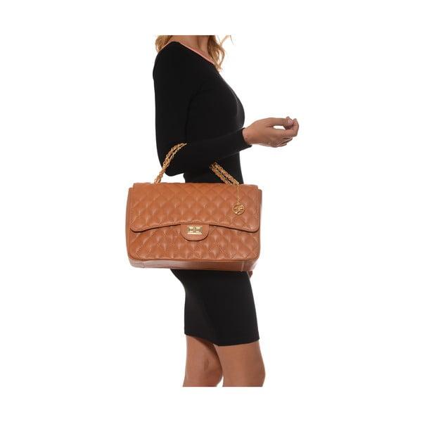 Koňakově hnědá kožená kabelka Isabella Rhea Julietta