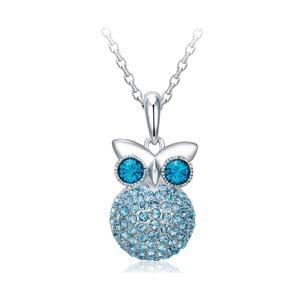 Náhrdelník s modrými krystaly Swarovski Elements Crystals Owl
