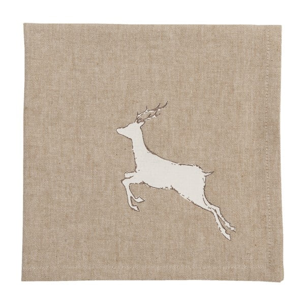 Ubrousky Clayre & Eef Beige Deer, 6ks