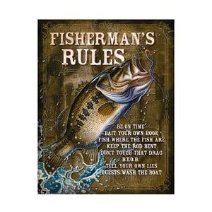 Plechová cedule Fishermans' Rule