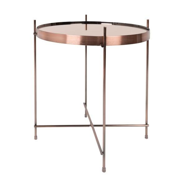 Příruční stolek v měděné barvě Zuiver Cupid, ⌀43cm