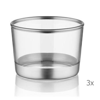 Set 3 pahare pentru shot-uri Mia Glam Silver, ⌀ 8 cm