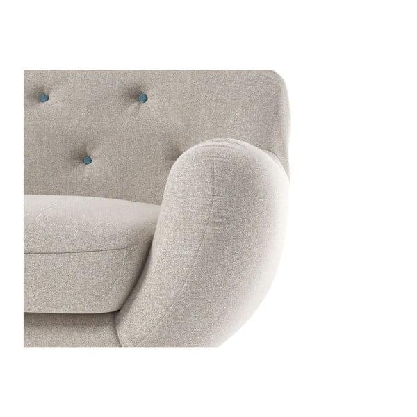 Sofa Zefir pro tři, béžová/modrá