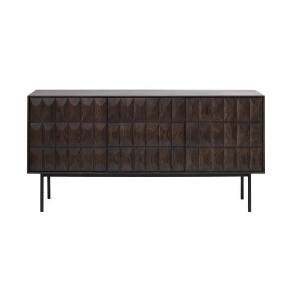 Czarna komoda Unique Furniture Latina, dł. 160 cm
