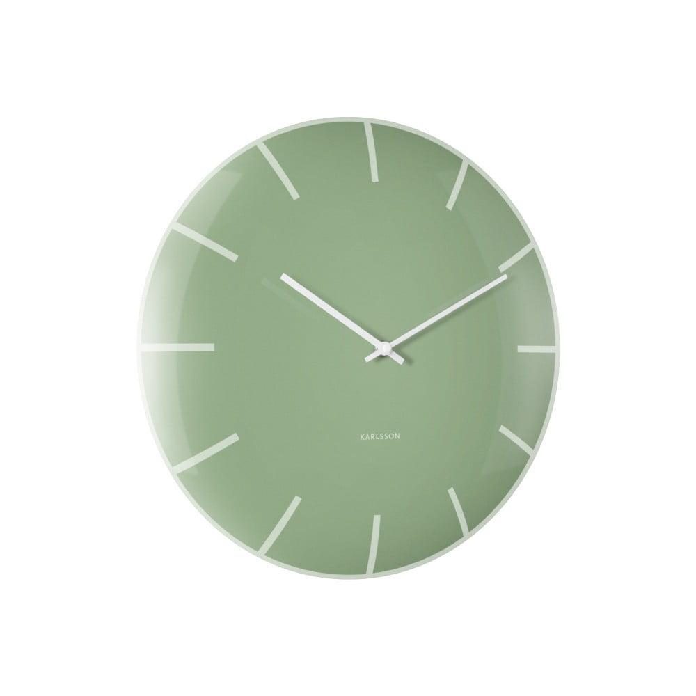 Zelené nástěnné hodiny Karlsson Boxtel & Buijs