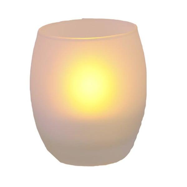 Oválný svícen s LED svíčkou