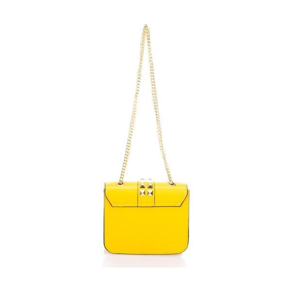 Žlutá kožená kabelka Giulia Massari Skata