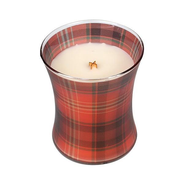 Svíčka s vůní cesmíny a jmelí WoodWick Picture Vánoce, dobahoření60hodin