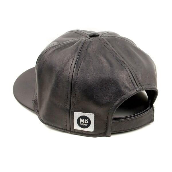 Kožená kšiltovka Nappa 6 Black