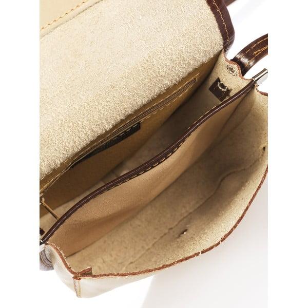 Hnědošedá kožená kabelka Giorgio Costa Calista