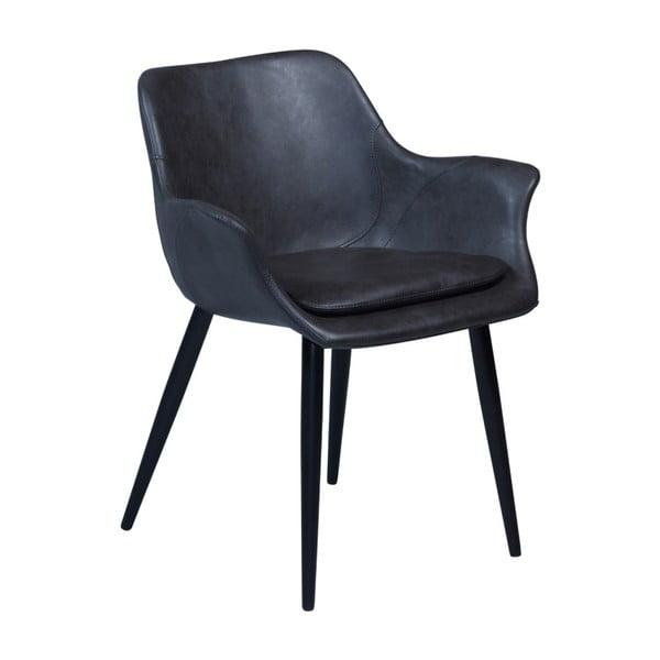 Šedá jídelní židle s područkami DAN–FORM Combino