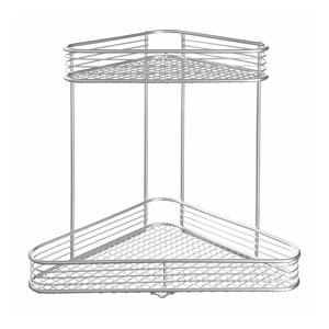 Dvoupatrový rohový stojan ve stříbrné barvě iDesign Vienna