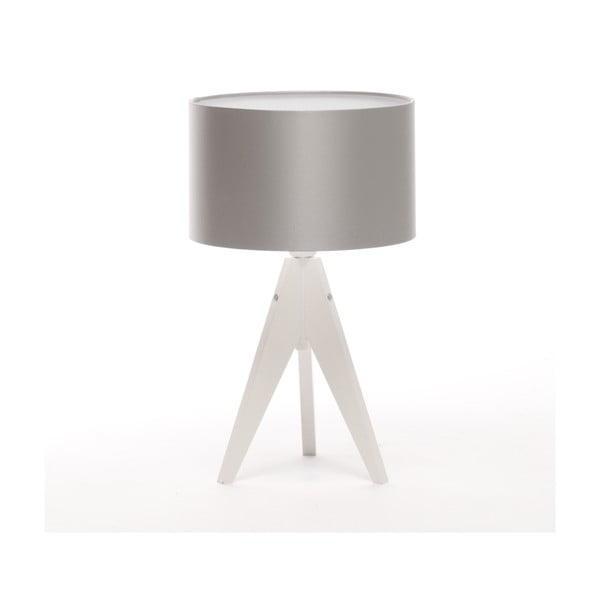 Stolní lampa Artista White/Silver, 28 cm