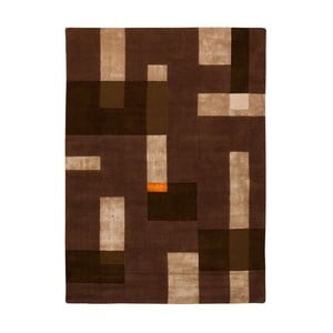 Koberec Ossian Beige Brown, 65x130 cm