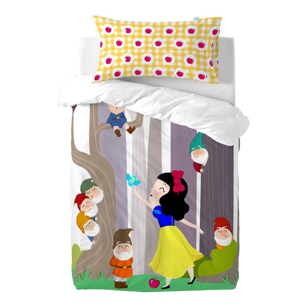 Dětské bavlněné povlečení na peřinu a polštář Mr. Fox Snow White, 115 x 145 cm