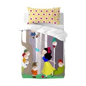 Dětské bavlněné povlečení na peřinu a polštář Mr. Fox Snow White, 115x145cm