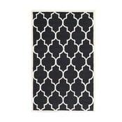 Vlněný koberec Everly 121x182 cm, černý